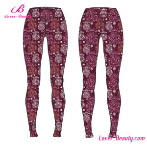 Abstract Patterns Anti Defomation Flowery Sportwear Yoga Leggings pictures & photos