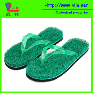 Fashion Colorful Cool Summer Beach PVC Noodle Grass Slippers/Seagrass Flip Flops