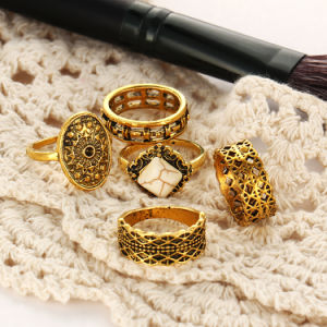 Imitation Jewelry Vintage Punk Metal Knuckle Rings 5PCS/Set Anillos pictures & photos