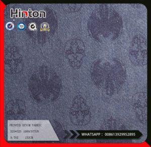 Skull Design Printed Cotton Denim Fabric 9.7oz Coat pictures & photos
