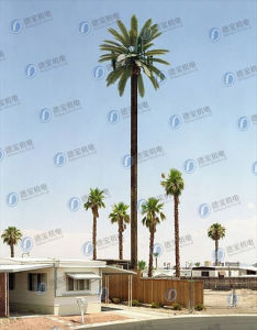 Durable Camouflaged Coconut Tree Telecom Tower
