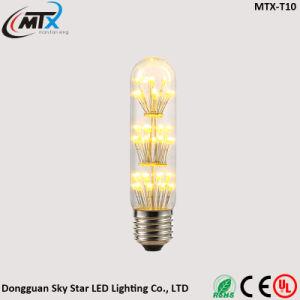 UL Listed Clear Glass 2700K LED T10 Tubular Light Bulb pictures & photos