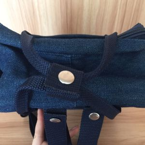 Fashion Blue Jean Denim Backpack Bag with Tote Handle pictures & photos