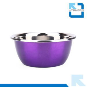 Personalized Colourful Stainless Steel Mixing Bowls Cookware Set pictures & photos