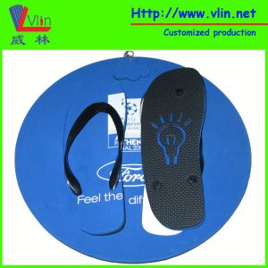 Palm Shape Board Flip Flop/Sandals with Floatable Keychain pictures & photos
