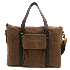 2017 Big Tote Leather Canvas Bag Unisex Ga05 pictures & photos