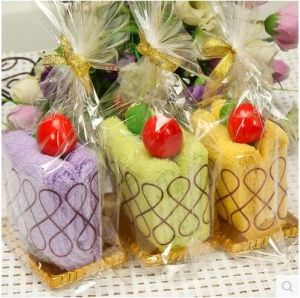 Wholesale Lovely Cotton Terry Cake Towel/Gift Towel/Christmas Towel pictures & photos