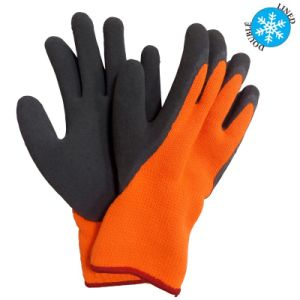 Acrylic Gloves Foam Latex Coated Thermal Grip Winter Work Glove pictures & photos