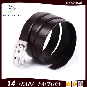 Custom Buckle High Quality Leather Mens Waist Belts with Tracks pictures & photos