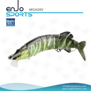 Multi Jointed Fishing Life-Like Pike Shallow Artificial Fishing Tackle Fishing Bait (MS2420V) pictures & photos