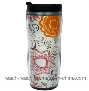 450ml OEM Advertising Plastic Coffee Mug (R-2099) pictures & photos