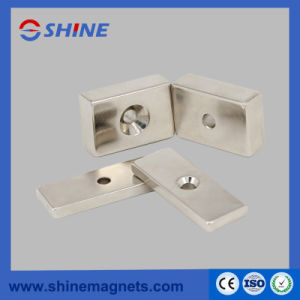 Permanent Neodymium Cuboid Magnet Block with Countersunk Hole Shaped pictures & photos