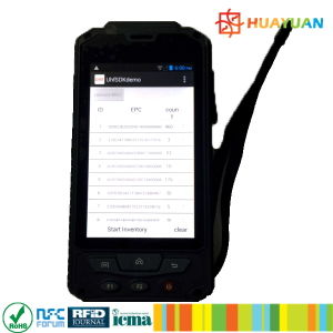 HANDHELD WIRELESS ANDROID 4.4.2 INDUSTRIAL UHF RFID HANDSHIELD READER pictures & photos