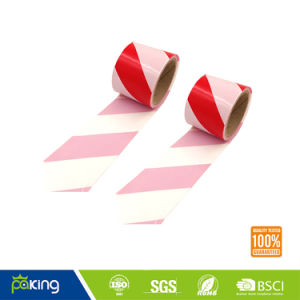 Red and White PVC Caution Tape with Rubber Adhesive pictures & photos