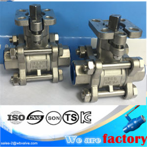 3PC Ball Valve with Gland Type Mounting Pad ISO 5211 pictures & photos