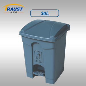 30L Plastic Trash Bin with Lid and Pedal pictures & photos