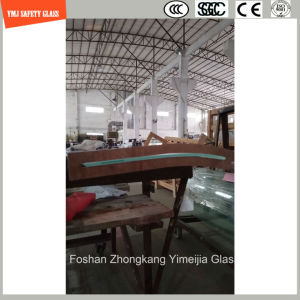 3-19mm Silkscreen Print/Acid Etch/Frosted/Pattern Irregular Bent Tempered/Toughened Glass for Window/Shower Door with SGCC/Ce&CCC&ISO Certificate pictures & photos