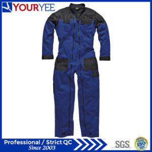 Two Tone Workwear Boiler Suit Full Double Zipper Coverall (YLT120) pictures & photos