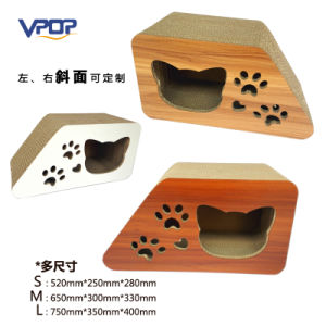 Customized Slope Corrugated Cat Scratcher Cat Toy with 3 Sizes