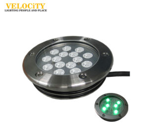 High Power 15PCS Hot Sale Resin Enclosed IP68 RGB Underwater Light for Swimming Pool