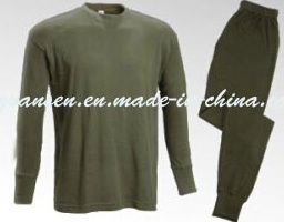 Winter Underwear Thermal in Oliva Green with Simple Classic Design pictures & photos