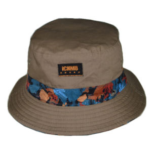 Custom Cap Floral Polyester Fashion Outdoor Fishing Cap Bucket Hat pictures & photos