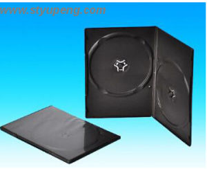 DVD Cover DVD Case DVD Box 7mm Long Double Black Rectange (YP-D806H)