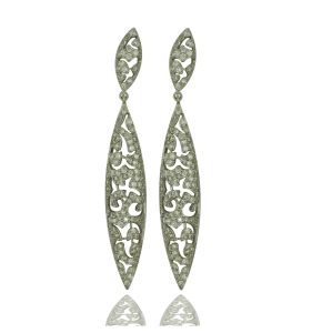Sterling Silver CZ Paved Earring Jewellery pictures & photos