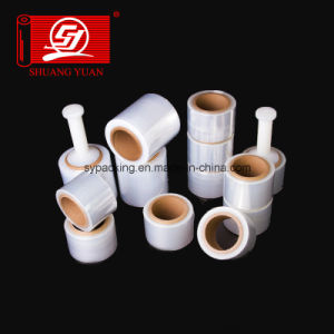 Good Flexibility 5000m LLDPE Handle Rolls Stretch Film Wrap Film pictures & photos