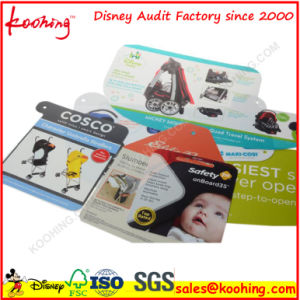 Custom Promotional Hard Paper PVC Rectangle Label Hang Tag pictures & photos
