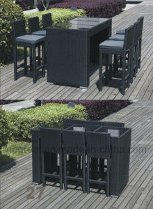 Best Selling Weatherproof Vogue Cane Dining Table Chair Set pictures & photos