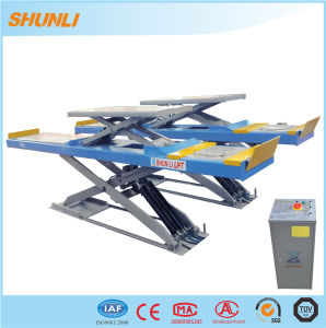 Ce Approved Scissor Design Double Level Hydraulic Car Lifter pictures & photos