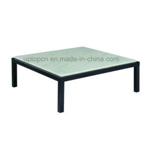 Leisure Marble Top Reataurant Table with Black Metal Leg (SP-GT438) pictures & photos