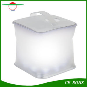 Cube PVC Inflatable Solar Lantern 10LED with Indicator Light Solar Garden Decorative Lights Solar Swimming Pool Lamp, Emergency Solar Camping Light pictures & photos