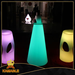 Outdoor Multi Color Changing Plastic LED Wedding Table (G011) pictures & photos