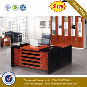 Cheap Prices Modern Mahogany Color Wooden Office Desk (HX-5N022) pictures & photos