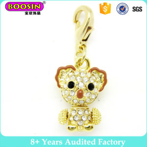 Gold Crystal Animal Bear Charm pictures & photos