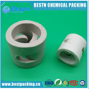 Excellent Acid Resistance and Heat Resistance Ceramic Pall Ring for Tower Packing pictures & photos