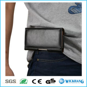 Genuine Leather Waist Belt Clip Holster Phone Case pictures & photos