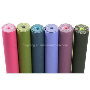 Hot Selling 6mm Double Layers TPE Yoga Mat pictures & photos
