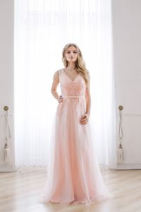 2017 Party Prom Gowns Lace Sequins Stock Wholesale Evening Dresses H918 pictures & photos