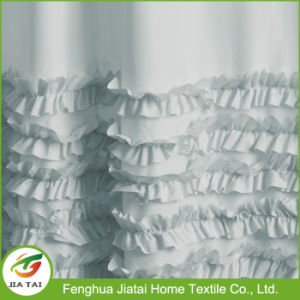 High Quality Polyester Custom Beautiful Ruffle Shower Curtain pictures & photos