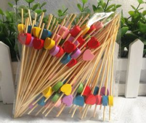 Eco Natural Bamboo Fruit Skewer/Stick/Pick (BC-BS1066) pictures & photos