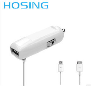2 in 1 Car Charger with 1 USB and in Built Data Cable for Mobile Phone Charger pictures & photos