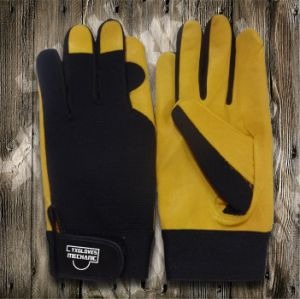 Cowhide Leather Glove-Safety Glove-Mechanic Glove-Machine Glove-Working Leather Gloves pictures & photos