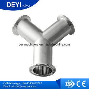 Stainless Steel Sanitary Ss304 Y-Type Triclamp Tee (DY-T02) pictures & photos