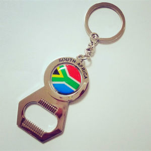Souvenir Gifts Customized South Africa Keyring Metal Beer Opener pictures & photos
