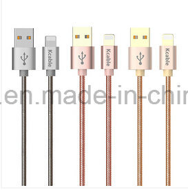 Colorful Woven Nylon USB Data Cable with Lightning Micro Port for All Apple Phone iPad iPod Devices pictures & photos