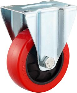 3/4/5 Inch Medium Duty Red PU Castor Wheel with Brake pictures & photos