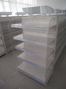 White Color Powder Coated Shop Shelf pictures & photos